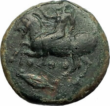 HIMERA Sicily 420BC Pan on Goat w Shell & Nike RARE Ancient Greek Coin i76839