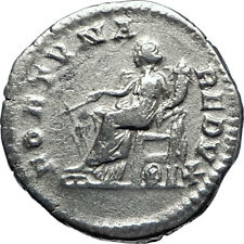 SEPTIMIUS SEVERUS 203AD Rome Authentic Ancient Silver Roman Coin FORTUNA i70083