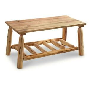 log coffee table for sale in stock ebay