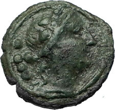 POSEIDONIA as PAESTUM in Lucania Ancient 218BC Greek Triens Coin Dionysus i66926