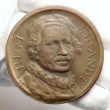 1906 NETHERLANDS Dutch Masterpiece Painter REMBRANDT 300th Birth MEDAL i75123