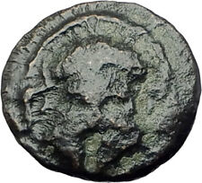 MESEMBRIA in Thrace 400BC Ancient Greek Coin CORINTHIAN HELMET & WHEEL i64379