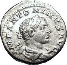 ELAGABALUS  219AD Rome Authentic Silver Roman Coin GOOD LUCK Felicitas  i73560
