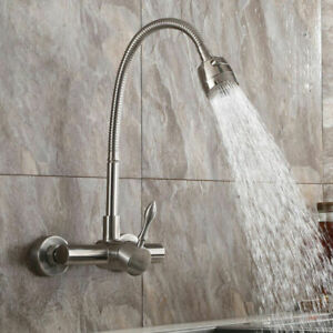 wall mount kitchen faucets with sprayer