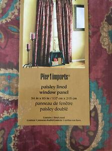 pier 1 imports multi color curtains