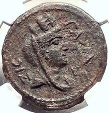 ANTONINUS PIUS 138AD Gaza in Judaea RARE Authentic Ancient Roman Coin NGC i69327