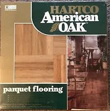 HARTCO AMERICAN OAK PARQUET HARDWOOD FLOORING 10 Sq Feet VINTAGE Tongue & Groove