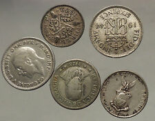 GROUP LOT of 5 Old SILVER Europe or Other WORLD Coins for your COLLECTION i53814