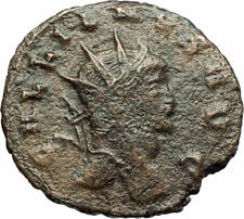 GALLIENUS Genuine 267AD Rome Authentic Ancient Roman Coin w ANTELOPE i77188