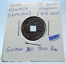 1875AD CHINESE Qing Dynasty Genuine Antique DE ZONG Cash Coin of CHINA i72220