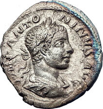 ELAGABALUS 218AD Authentic  Ancient Silver Roman Coin Providentia i73592