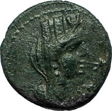 SIDON In PHOENICIA Ancient 87AD Authentic Greek Coin TYCHE & GALLEY Ship i66515