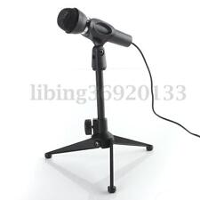Desk Table Top Tripod Microphone Stand Spring Flat Semi Podium