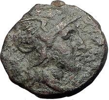 PELLA in Macedonia 148BC RARE R1 Authentic Ancient Greek Coin ROMA WREATH i62739