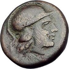 MYRINA in AEOLIS 400BC Authentic Ancient Greek Coin ATHENA & AMPHORA Vase i64569