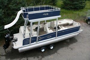 pontoon deck powerboats for sale ebay