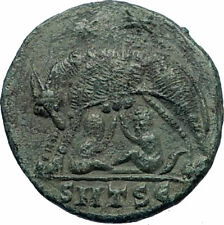 CONSTANTINE I The Great 330AD Ancient Roman Coin Romulus & Remus Wolf  i71755