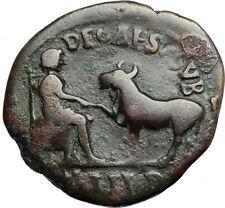COMMODUS 177AD Parion Mysia ASCLEPIUS Veterinary Medicine God Roman Coin i67011