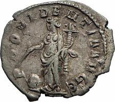 GALLIENUS Authentic Ancient 255AD Rome SILVER Roman Coin PROVIDENTIA i74893