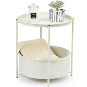 cream side table in side and end tables