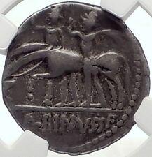 Roman Republic Battle of Lake Regillus Dioscuri Ancient Silver Coin NGC i70164