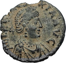 EUDOXIA Arcadius Wife 400AD Authentic Ancient Roman Coin HAND OF GOD i67024
