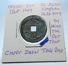1628AD CHINESE Ming Dynasty Genuine Antique SI ZONG Cash Coin of CHINA i72280