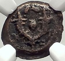 JUDAH ARISTOBULUS I JEWISH 104BC Jerusalem Ancient Widow's Mite Coin NGC i69317