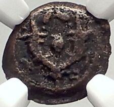 JUDAH ARISTOBULUS I JEWISH 104BC Jerusalem Ancient Widow's Mite Coin NGC i69317