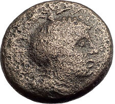 PELLA in MACEDONIA 146BC ROMAN Quaestor Ancient Greek Coin ATHENA & BULL i62807