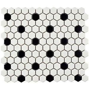 vintage retro hexagonal mosaic tile