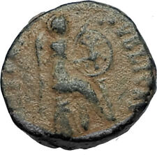 EUDOXIA Arcadius Wife 401AD Authentic Ancient Roman Coin VICTORY CHI-RHO i67531