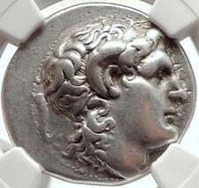 LYSIMACHOS Silver Tetradrachm Ancient Greek Coin ALEXANDER the GREAT NGC i68281