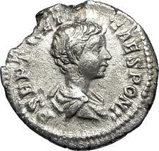 GETA 199AD Rome Silver Authentic Ancient Roman Coin Nobilitas Palladium  i67350