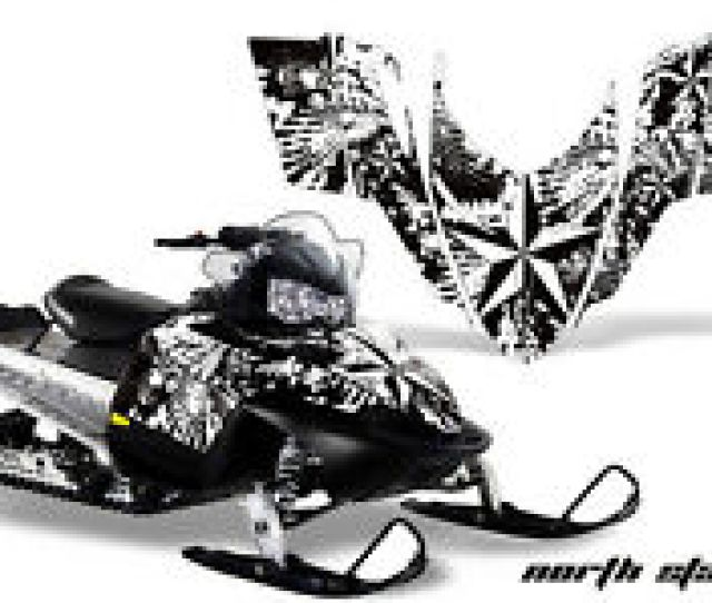 Sled Graphics Kit Decal Sticker Wrap For Polaris Switchback 2006 2010 Nstar Wht