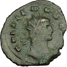 GALLIENUS son of Valerian I Ancient Roman Coin Fortuna Luck Cult  i40016