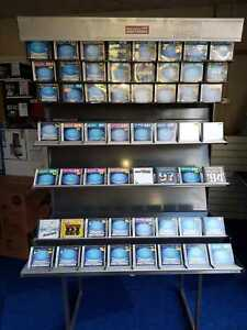 cd display in retail shop displays