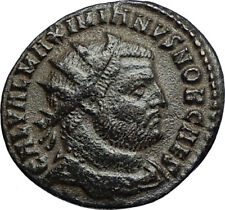 GALERIUS Authentic Ancient 295AD Cyzicus Roman Coin JUPITER gives VICTORY i67421