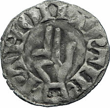 1000AD FRANCE Besancon Medieval Antique Silver FRENCH Coin CROSS HAND  i74866