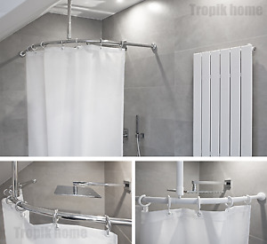 ceiling shower curtain rods for sale ebay
