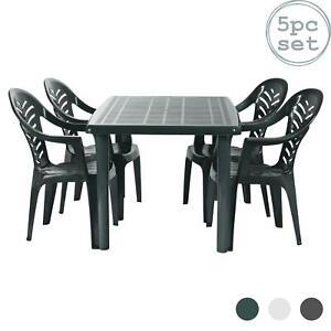 green plastic patio garden furniture