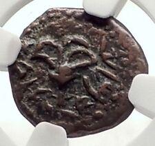 ALEXANDER JANNAEUS Biblical Jerusalem Widow's Mite Greek Bible Coin NGC i70925