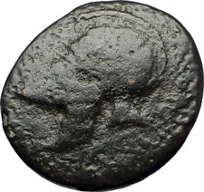 MESEMBRIA Thrace Authentic Ancient Greek Coin CORINTHIAN HELMET WHEEL  i69191
