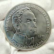 1971 PANAMA Huge 6.2cm Proof Silver 3.8oz 20 Balboas Coin w SIMON BOLIVAR i76336