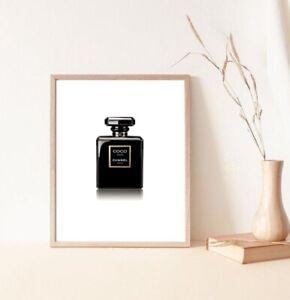 chanel perfume bottle in art posters