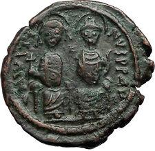 JUSTIN II &  Sophia 565AD Nicomedia Follis Genuine Ancient Byzantine Coin i69942