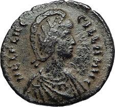 AELIA FLACILLA Wife of Theodosius I 383AD Authentic Ancient Roman Coin i67009
