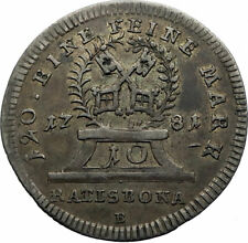 1781 GERMANY German States REGENSBURG Antique Silver Coin of JOSEPH II i71779