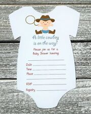 Western Cowboy Baby Shower Greeting Cards Invitations For