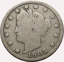 1905 LIBERTY HEAD NICKEL 5 Cent United States of America USA Antique Coin i43551